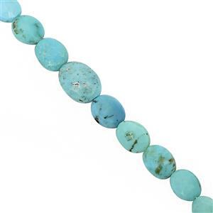 20cts Arizona Turquoise Graduated Faceted Oval Approx 6x4 to 9x7mm, 16cm Strand