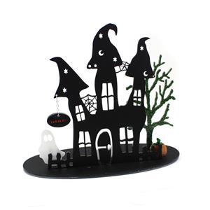 Haunted House Display With LED Tea Light
