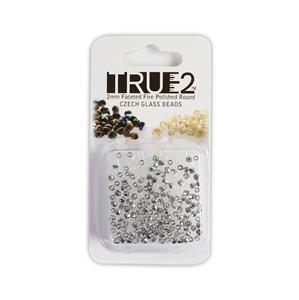 True2 Labrador Fire Polish Beads, Approx 2mm (2GM)