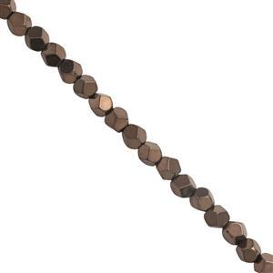 50cts Coffee Color Coated Hematite Smooth Star Cut Approx 4mm, 30cm Strand