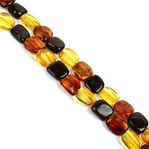 Baltic Multicolour Amber Beads, Approx. 10x8-16x11mm, 38cm (Cognac, Cherry, Lemon)