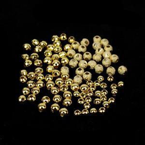 Gold Plated 925 Sterling Silver Spacer Bead Bundle 4 Designs - 100pcs (3 & 4mm Rounds, 4mm Cut Stardust & 4mm Faceted)