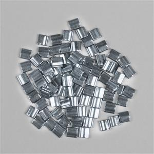 Miyuki Tila Galvanised Grey Luster Beads Approx 5x5mm (7.2GM/TB)