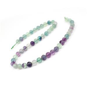 175cts Fluorite Faceted Rounds Approx 7.5mm, 38cm Strand