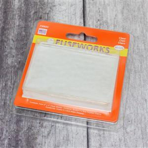 Fuseworks Clear Fusible Glass Sheet Pack 4 x 2x3