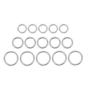 925 Sterling Silver Jump Ring Bundle 150pcs Approx 0.7mm Guage (50 x 3mm, 4mm & 5mm)