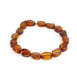 Baltic Cognac Amber Ovals Approx. 12x8-17x2mm, 20cm Strand