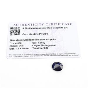 4.5cts Madagascan Blue Sapphire 12x10mm Fancy  (D)