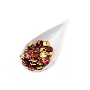 Preciosa Ornela Crystal California Gold Rush Ripple Beads Approx. 12mm (25pcs)