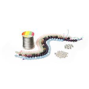 Wildflower Knotted Gemstone Bracelet Kit