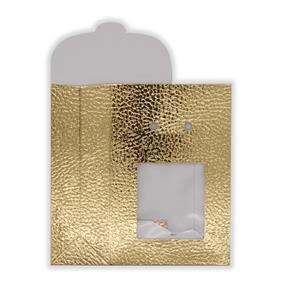 Pelle Gold Mini Gift Bags With Window Approx 135x90x45mm 5pk