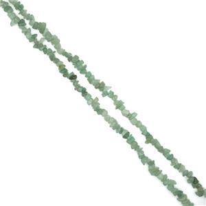 330cts Green Aventurine Small Nuggets Approx 5x8mm, 80cm Strand