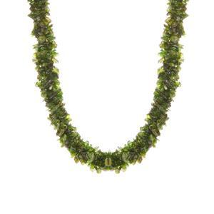 379.10ct Chrome Diopside Sterling Silver Necklace