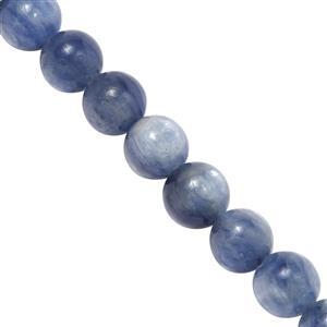 70cts Kyanite Smooth Rounds Approx 6mm, 20cm Strand