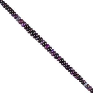50cts Sugilite Graduated Plain Rondelles Approx 4x1 to 6x2mm, 16cm Strand.