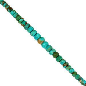 35cts Cochise Turquoise Graduated Faceted Rondelles Approx 3x2 to 7x5mm, 20cm Strand