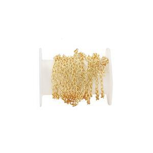 Gold Plated Base Metal Cable Chain, Approx. 2.80x2mm (1m)