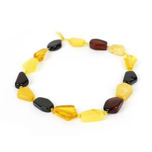 Baltic Multi Colour Amber Irregular Beads Approx. 7x6-10x8mm, 20cm Strand (Inc Congac, Cherry, Lemon)