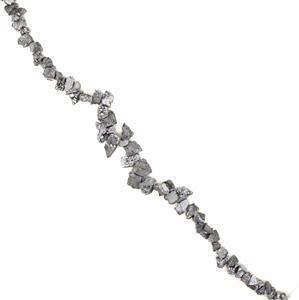 250cts Silver colour Druzy Quartz Nuggets, Approx 6×10-10×18mm , 38cm strand