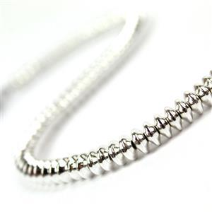 100cts Silver Coated Haematite Smooth Saucer Approx 5.5x2.5 to 6x2.5mm, 25cm Strand