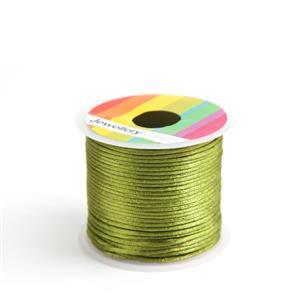 10m Green Satin Cord, 1mm