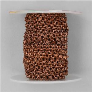 5m Antique Copper Plated Brass Double Cable Chain 3.8mm