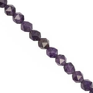 95cts Amethyst Faceted Star Cut Approx 7 to 7.50mm, 28cm Strand