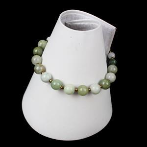A Moment of Calm; 340cts Pack of 3 Multi Colour Burmese Jadeite Rounds & Miyuki Seedbeads