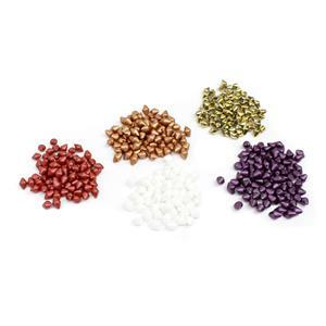 Spiky Button Beads, 500pcs. Inc; Copper, Chalk White, Mtallic Red, Alabaster & Amber