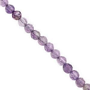 Manager's Special! 10cts Rose De France Amethyst Micro Faceted Round Approx 2mm, 32cm Strand