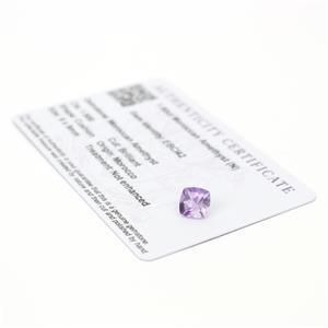 1.6cts Moroccan Amethyst 8x8mm Cushion  (N)
