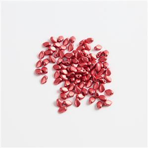 Czech Gekko Beads 3x5mm - Lava Red (100pcs)