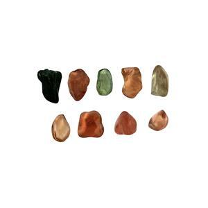 22cts Multi-Colour Tourmaline Smooth Organic Pebbles Approx 6x7 to 14x10mm (Min 6pcs)