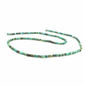15cts African Turquoise Faceted Rondelles Approx 3x2mm 38cm strand