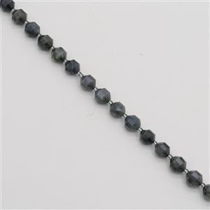180cts Labradorite Faceted Satellite Beads Approx 9x10mm, 38cm Strand