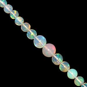8cts Ethiopian Opal Smooth Round Approx 2.50 to 5mm, 10cm Strand