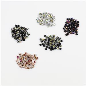 250pcs Fire Polish Beads! Inc; Jet Marea, Jet Slpierit, Jet Vitrrail & More.