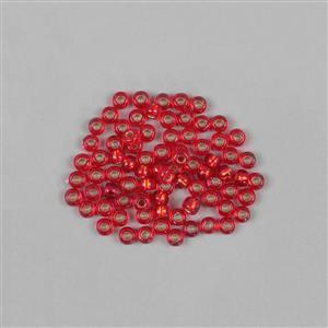 Miyuki Silver Lined Flame Red Beads 8/0  (22GM/TB)