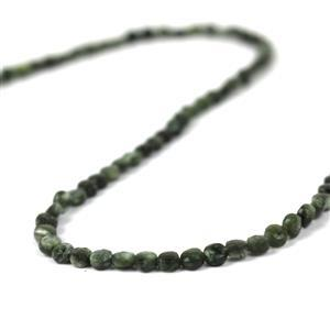 20cts Seraphinite Faceted Coins Approx 3.5mm, 38cm Strand