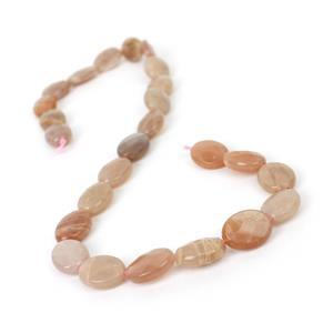 180cts Sunstone Faceted Ovals Approx 16x12mm, 38cm Strand