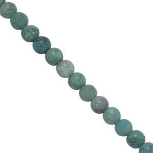 35cts Chrysocolla Smooth Rounds Approx 4mm, 30cm Strand