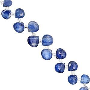 18cts Nilamani Top Side Drill Graduated Faceted Heart Approx 5.5x5 to 8.5x8mm, 10cm Strand with Spacers