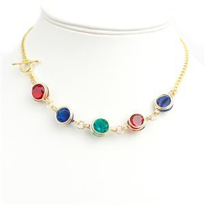 Royal: 68cts Blue Sapphire, Emerald & Ruby Triplet Faceted Rounds, Wire & Findings