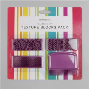 Polymer Clay Texture Blocks 4pk