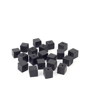 Black Wooden Cube Beads Approx 15mm (20pk)
