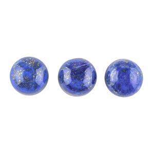 20cts Lapis Lazuli Round Cabochons Approx 11mm. (Pack of 3)