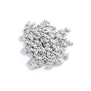 StormDuo Beads Aluminium Silver, Approx 3x7mm (100pcs)