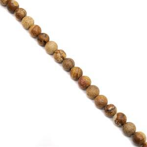 200cts Picture Jasper Plain Rounds 2mm Holes Approx 10mm, 38cm Strand