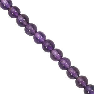 35cts Amethyst Smooth Round Approx 4mm, 27cm Strand