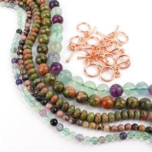 It'll be Ite on the Night Multi Colourd Bundle; 5 Strands & Toggle Clasp